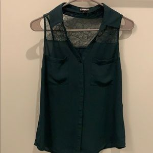 EXPRESS Green Blouse Size M